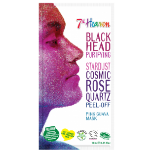 "7th heaven stardust cosmic rose quartz peel-off pink guava mask Маска для лица ""Звёздная пыль"" с соком гуавы"